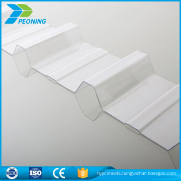 0.8mm Skylight UV Protector Polycarbonate Corrugated Roofing sheet