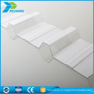 painéis de telhado ondulado de plástico de plástico translúcido para estufas