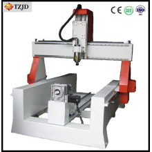 Enrutador CNC para cilindros de madera con eje giratorio para trabajar la madera