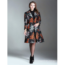 Autumn Fashion Embroidered 2017 Ladies Long Trench Coat