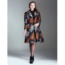 Осень Мода Вышитые 2017 Дамы Длинные Пальто