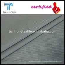 fond marron imprimé point blanc sur le tissu de tissage Popeline qualité 40 s poids léger pour la robe chemise
