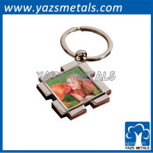 Custom full color square keychains with metal ring