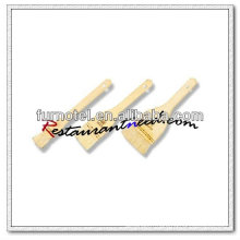 Brosse de pâtisserie en laine droite V535 avec manche en bois