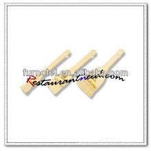 Escova de pastelaria de lã reta V535 com alça de madeira