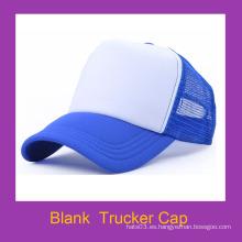 Género unisex de encargo y espuma en blanco del p gorras de camionero