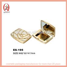 ES-195 compacto com espelho cosmético embalagem