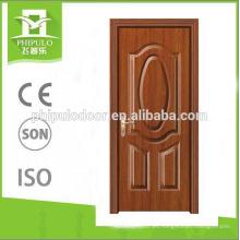2018 último diseño MDF panel venta al por mayor precio venta caliente melamina puerta de madera