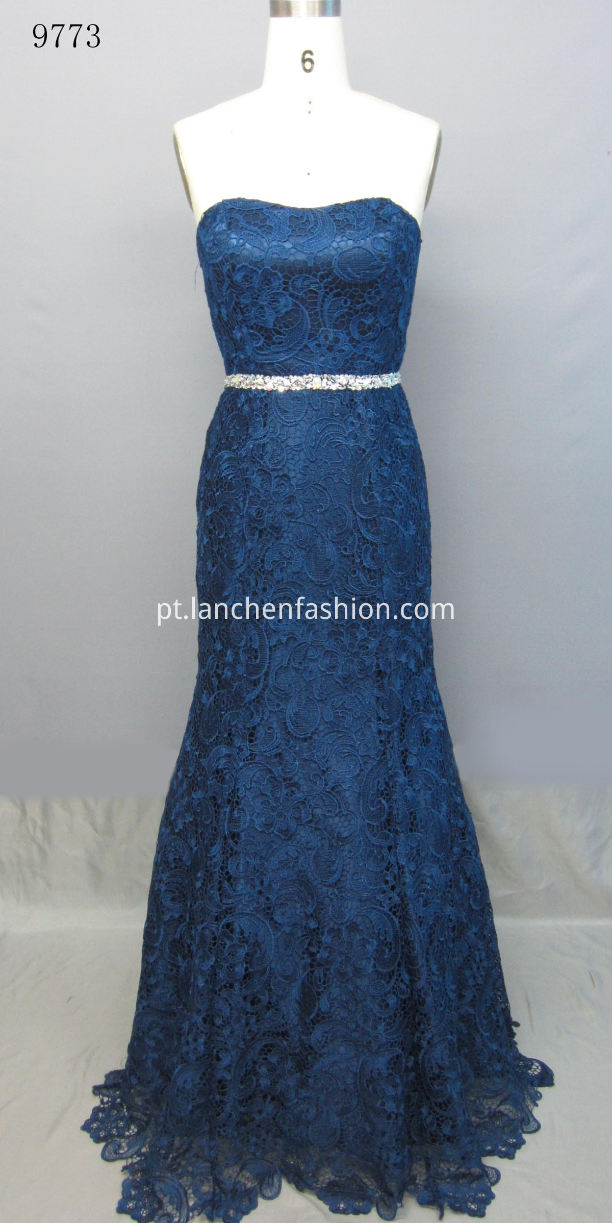 Long Wedding Dresses Navy