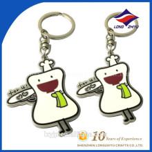 White Enamel Schlüsselanhänger für Kids und Cute Girls
