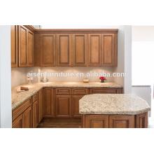 Armário de cozinha Classic Oak Solid Wood popular para o mercado americano