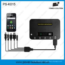 Poder solar recarregável do lítio 5200mAh para o sistema de iluminação com carregamento do telefone