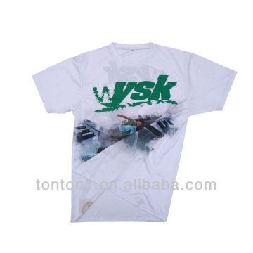 Nuevas camisetas en blanco de encargo de la manera venden al por mayor