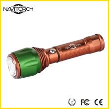 Botón de control de aluminio con interruptor Zoomable linterna (NK-06)