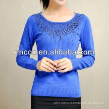 Suéter de cachemir con cuentas 13STC1028