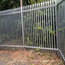 2m high steel palisade galvanized security fencing with Installation fitting