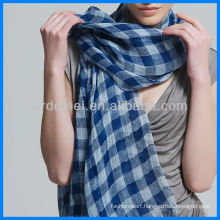 Yarn-dyed grid wholesale linen scarf