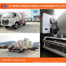 4X2 Small 4m3 Cement Mixer Truck 5m3 Concrete Mixer Truck