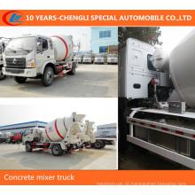 Caminhão pequeno do misturador concreto do caminhão 5m3 do misturador de cimento 4x2 4x2