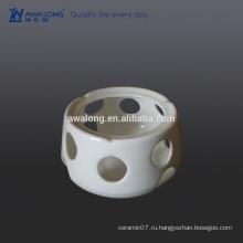 Пользовательские костяного фарфора Высокая яркость белого равнина Fine Ceramic Pot Holder