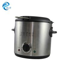 Freidora profunda usada hogar eléctrica de plata de la mini cocina 1.0L del OEM más reciente con el termostato