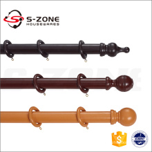 Decorative Wood Curtain Rods And Accessories Drapery Wooden Curtain Rod