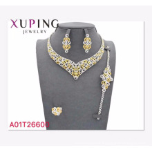 A01-Xuping Jewelry Wholesale Latest Luxury Style Jewelry Set with 18K Gold Plated
