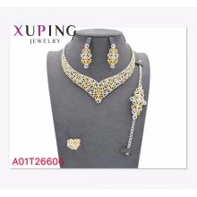 A01-Xuping Jóias Por Atacado Mais Recente Estilo de Luxo Conjunto de Jóias com Banhado A Ouro 18 K