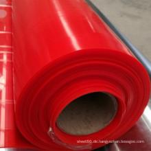Fabrik-Preis-rote Farbe-Silikonkautschuk-Blatt, dunkelrote Farbsilikon-Blatt