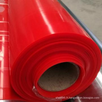 Feuille en caoutchouc de silicone de couleur rouge de prix usine, feuille rouge foncé de silicone de couleur