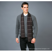 Cachecol de lã de 100% clássico Pattarn Men