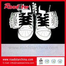 High intensity reflective shoes leather