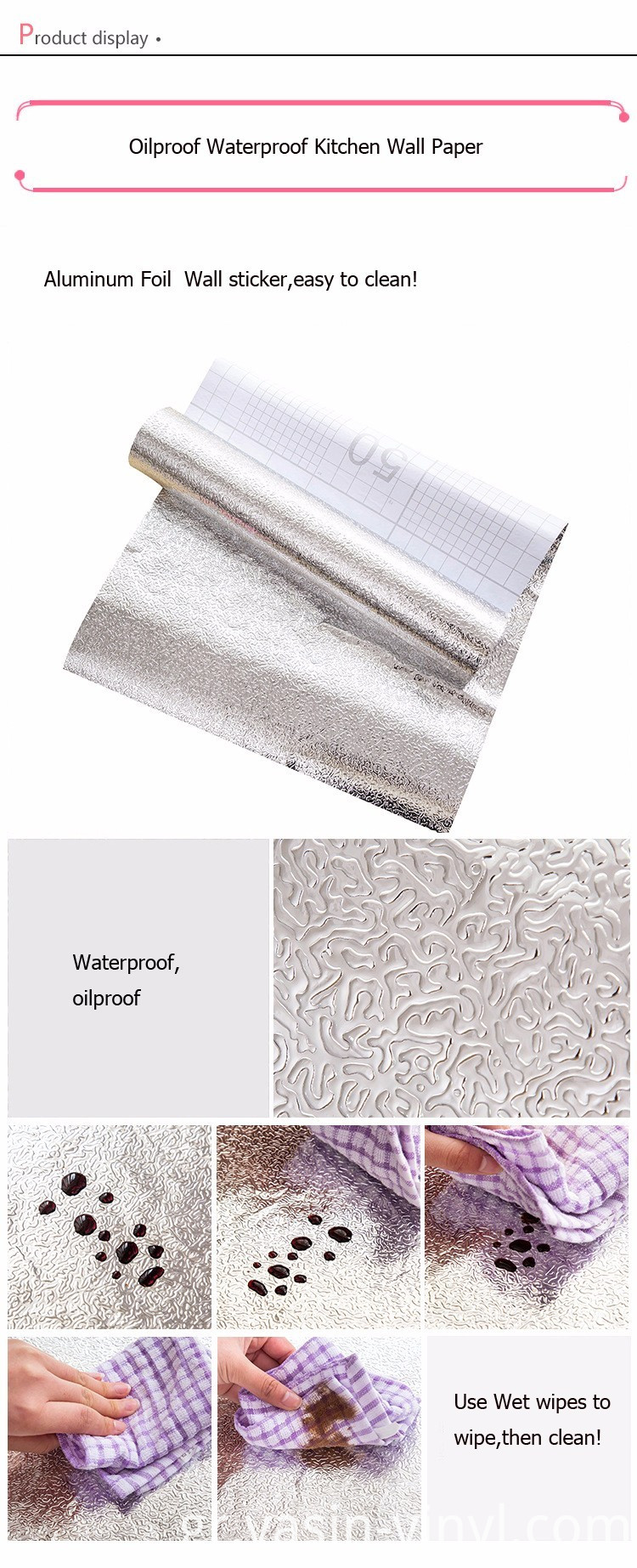 Anti-oil Aluminum Foil Self-adhesive Stickers