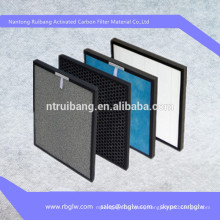 Air purifier filters and filter materials