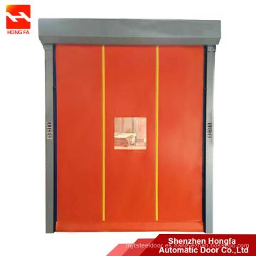 carretilla elevadora impacto atrás pista puerta de pvc