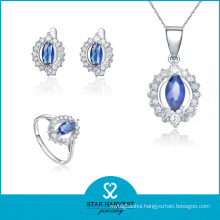 Cheap Blue 925 Sterling Silver Jewelry Set for Promotion (J-0119)