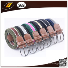 Mixed Color Polyester Braided Stretch Belt Woven Men Belt