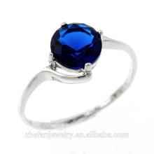 heißer Verkauf Edelstein Ringe einzelnen Stein Ring Designs