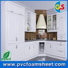 Fábrica del material de la hoja de la espuma del PVC del gabinete de cuarto de baño en China