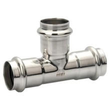 RVS gelaste Pipe Fitting gelijk Tee
