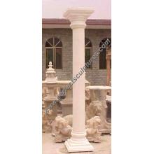 Piedra de mármol granito arenisca hueco columna romana (QCM016)