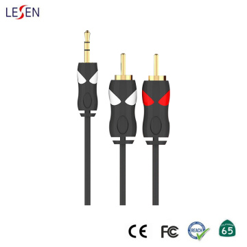 3.5mm Stereo Plug to 2RCA Plug Aux Cable