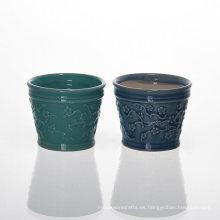 Tenedores de cerámica chinos de la flor del ciruelo para la cera perfumada