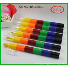 Multi-colors promotional plastic stackable crayon for children