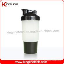 Garrafa protetora de proteína de 500 ml com 1 compartimento e rede (KL-7023)