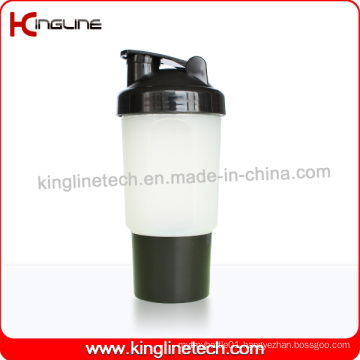 500ml Plastic Protein Shaker Bottle with 1 Compartment and Net (KL-7023)