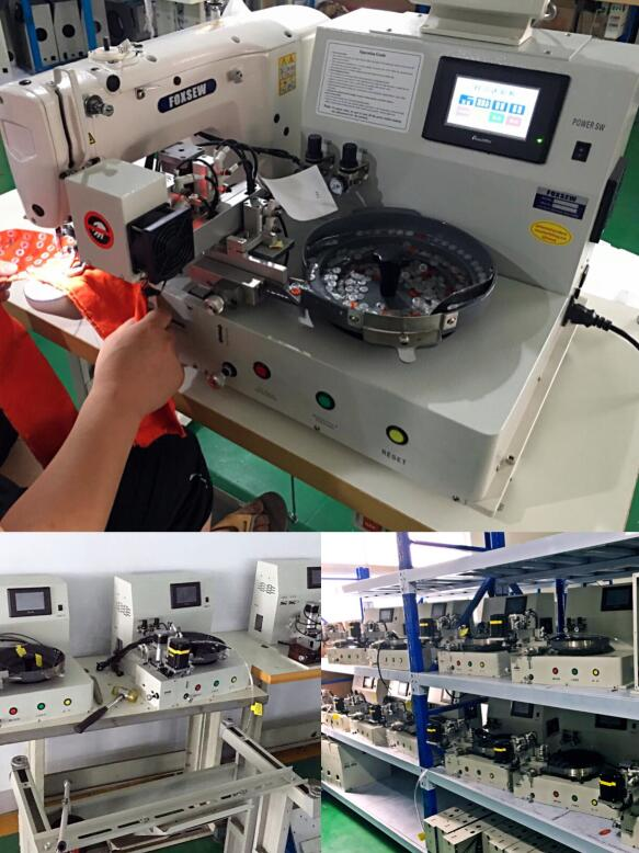 Automatic Feeding Button Attaching Machine 3
