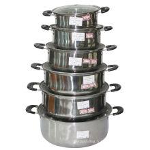 Vaisselle en acier inoxydable avec couvercle en verre