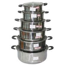 Utensílios de mesa de aço inoxidável com tampa de vidro