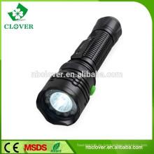 Mit einem Clip und einem magnetischen Schwanz hohe Leistung rote grüne weiße Taschenlampe